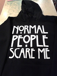 "SUDADERA ""NORMAL PEOPLE SCARE ME"""